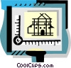 Vector Clip Art image  of an Architects tool