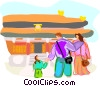 Tourists in China Vector Clipart graphic