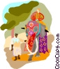 Vector Clip Art graphic  of a India  Elephant's Day