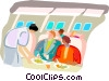 Airline hostess Vector Clipart picture