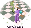 Vector Clip Art picture  of a Strategic business moves