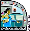 Woman shopping Vector Clip Art picture
