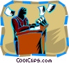 Vector Clipart image  of a Public Speaking