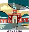 Vector Clipart picture  of a Independence Hall