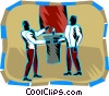Political debate Vector Clipart picture