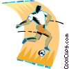 Vector Clip Art graphic  of a Soccer