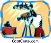 Newscast Vector Clipart graphic