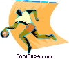 Vector Clipart image  of a Basketball