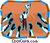 Vector Clipart picture  of a Public speaking