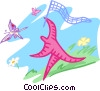 chasing butterflies Vector Clipart picture