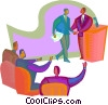 Vector Clipart graphic  of a Public speaker