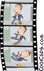 Film strip of scene Vector Clip Art picture
