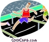 Vector Clip Art picture  of a Running hurtles