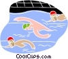 Vector Clipart illustration  of a Swimming race