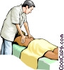 Massage therapist Vector Clipart image