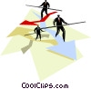 Vector Clip Art graphic  of a figure illustrating business concept