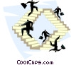 Vector Clipart illustration  of a climbing your way to the top