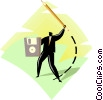 Vector Clipart image  of a figure illustrating business concept