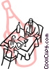 People dinning at a restaurant Vector Clipart picture