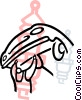Man putting new spark plugs in Vector Clipart picture