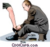 Shoe shiner Vector Clipart picture