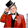 Vector Clip Art picture  of a Doorman