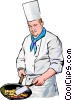 Vector Clipart graphic  of a Chef