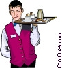 Vector Clipart graphic  of a Room service
