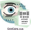 Eye examination Vector Clipart illustration