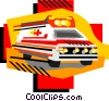 Ambulance, emergency vehicles Vector Clip Art graphic