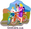 Bike tour Vector Clipart illustration