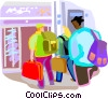 Vector Clipart image  of an Airline passenger terminal