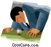 man rolling the dice Vector Clip Art picture