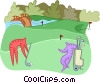 golf Vector Clipart graphic
