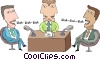 Vector Clip Art image  of a Talk show