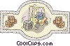 Vector Clipart graphic  of a Forklift driver