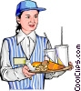 Vector Clip Art graphic  of a Food Hostess