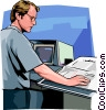 Vector Clipart picture  of a Engineer