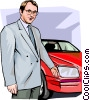 Vector Clipart graphic  of a Car Salesman