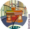 The Oval Office, The President's desk Vector Clip Art picture