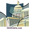 Vector Clipart graphic  of a Capitol Building symbol