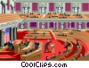 Vector Clip Art image  of a U.S. Congress in session