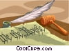 Vector Clip Art picture  of a Constitutional document We the