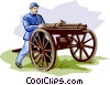 Vector Clipart picture  of a Civil War Machine Gun