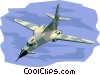 Vector Clipart graphic  of a B1 Bomber