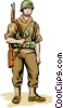 Vector Clip Art picture  of a US Soldier WWII