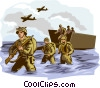 D-Day Normandy WWII Vector Clipart illustration