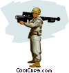 US Soldier Modern air defense Vector Clipart picture