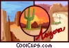Vector Clipart graphic  of an Arizona postcard design