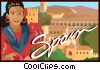 Spain postcard design Vector Clipart illustration